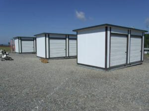 10' x 20' pre-assembled storage with roll up doors