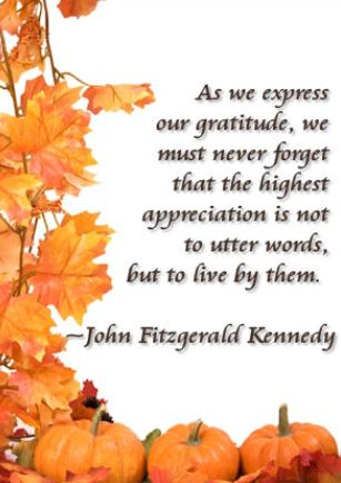 JFK Thanksgiving Quote